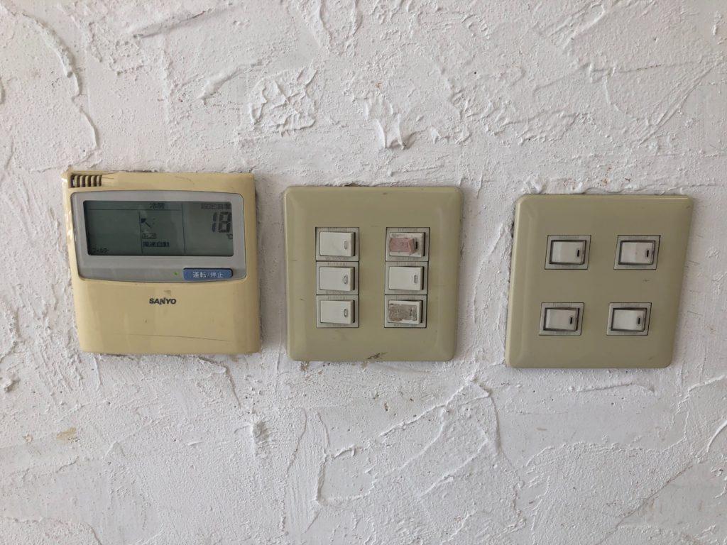 滝ノ水店舗の電気